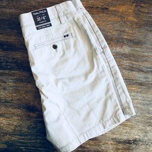 NEW Nautica Soft Light Blue Flat Front Shorts | 32